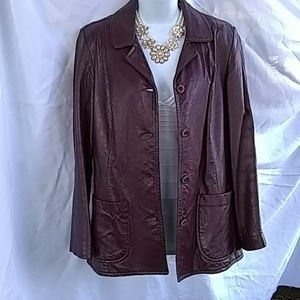 Leather coat :)